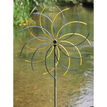 Blue Flower Design Stainless Steel Weathervanes