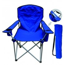 Blue Folding Chair With Cooler Bag