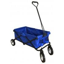 Blue Polyester Folding Wheel Barrow