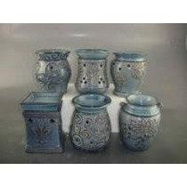 Blue Shiny Ceramic Electric Wax Warmer With line Oil Burner