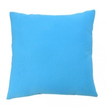 Blue Square Shape Polyester Cushion
