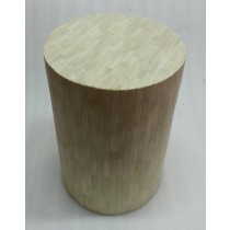Bone With Wooden White Finish Stool