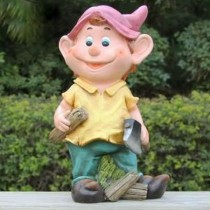 Boy Holding Axe Garden Sculpture(21.2 X 16.1 X 36.8 CM)