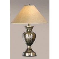 Brass Antique Pewter Table Lamp