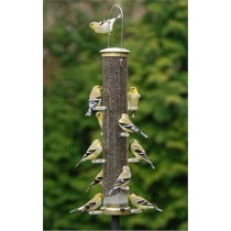Brass Hanging Bird Feeder - 23 Inch