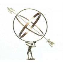 Brass Spherical Sundial With Arrow