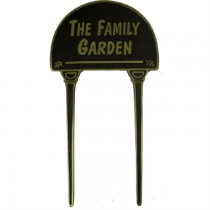 Brass The Family Garden Durable Garden Tag