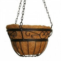 Bronze Finish Metal Scroll Hanging Basket