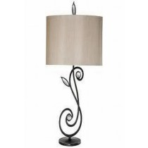 Bronze Finish With Glass Cristal Iron Table Lamp
