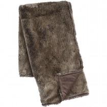 Brown 50 X 60 Inch Faux Fur Throw