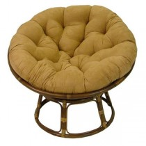 Brown 52 Inch Papasan Lounge Chair Cushion