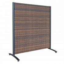 Brown Aluminum Frame With Resin Wicker Panel