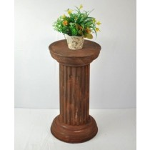 Brown  Coating Metal Pillar Stand