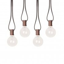 Brown Finish Clear Hanging Garden String Light