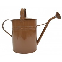 Brown Finish Galvanized Steel Watering Can