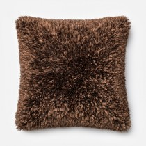 Brown Handmade Polyester Square Cushion