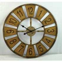Brown Metal Round Wall Clock