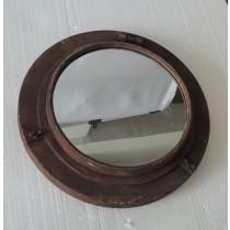 Brown Painted Lock Design Wall Metal mirror