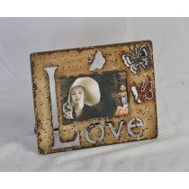 Brown Shabby Chic Curved Design Photo Frame