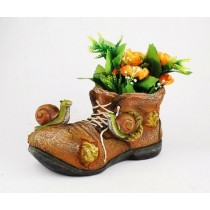 Brown Shoe Snail Planter