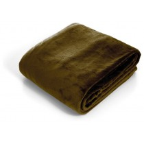 Brown Super Soft  Flannel King Size Throw