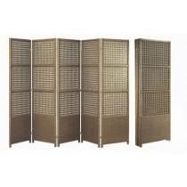 Brown Wicker Garden Rattan  Folding Panel (Size 6' x 3'')
