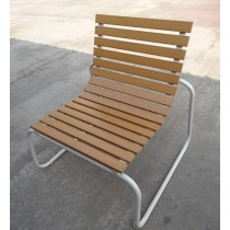 Brown  Wooden & Aluminium Chair