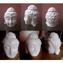 Buddha In Marble Look With No Wick