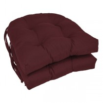 Burgundy Color 16 Inch U Shaped Cushion With Ties