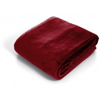 Burgundy Super Soft Flannel Twin Size Throw