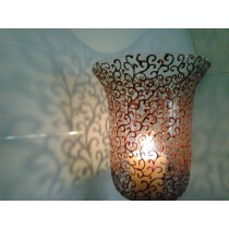 Burnt Swirls Candle Holder