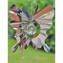 Butterfly Design Crystal Hanging Weathervanes