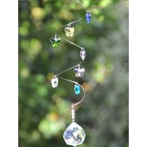 Butterfly Design Crystals Hanging Sun Catcher