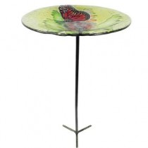 Butterfly Design Glass Bird Feeder