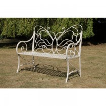 Butterfly Design Metal Garden Bench
