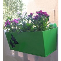 Butterfly Design Railing 16 Inch Rectangular Planter