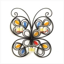 Butterfly Shape Wall Candle Holder