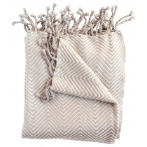 Camel And Cream Transitional Style Throw