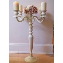 Candelabra Beige Candle Holder
