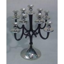 Candelabra Black Candle Holder