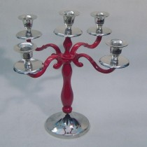 Candelabra Red Candle Holder