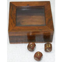 "Card Box With Dice, 4.5"" X 4.5"" X 2"""