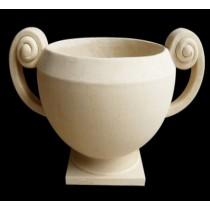Carved Handle Artificial Sandstone Garden Flowerpot