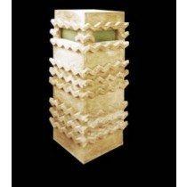 Carved Wave Pattern Square Sandstone Pedestal