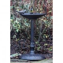 Cast Aluminium Bronze Finish Bird Bath