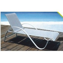 Cast Aluminum Carved Pool Side Lounge Chair