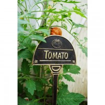 Cast Black Finish Tomato Garden Tag - 1