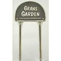 Cast Black Grans Garden Brass Garden Tag