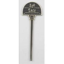 Cast Black Sage Herb Garden Tag