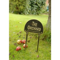 Cast Black The Orchard Brass Garden Tag